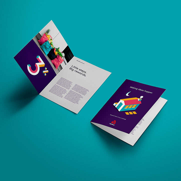 NatWest new vibrant brand collateral