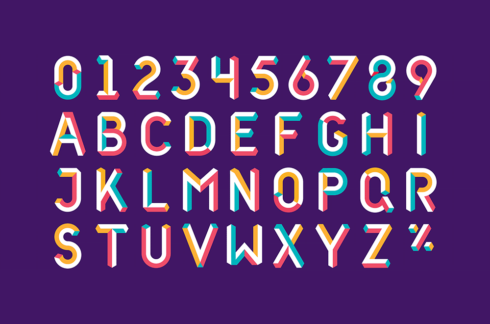 A vibrant illustrated alphabet that conveys the new NatWest brand