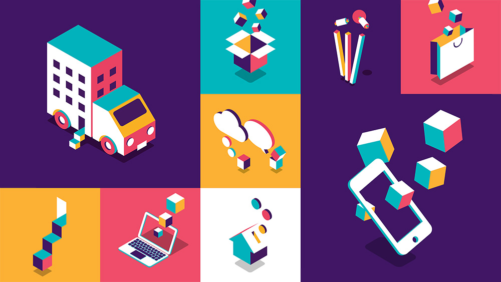 Vibrant and positive NatWest brand illustrations