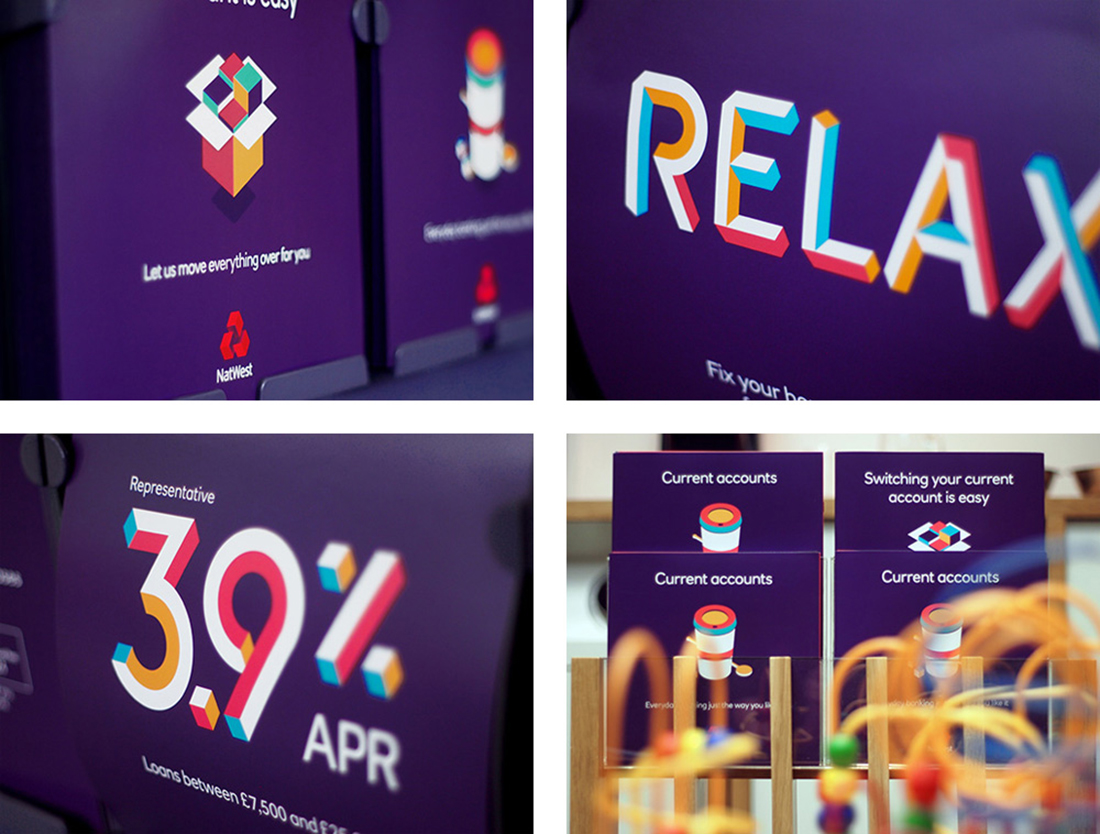 NatWest new vibrant brand retail collateral