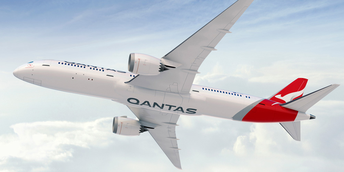 Qantas Plane with new branding